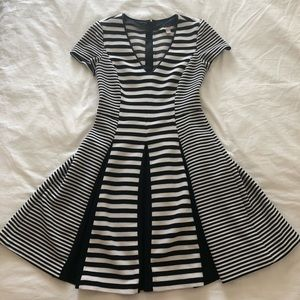 Navy and White Stripe Fit-n-Flare Dress